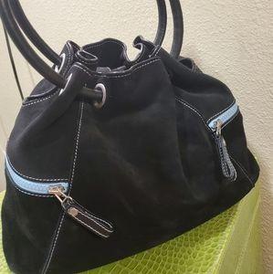 Cole Haan  black suede bag